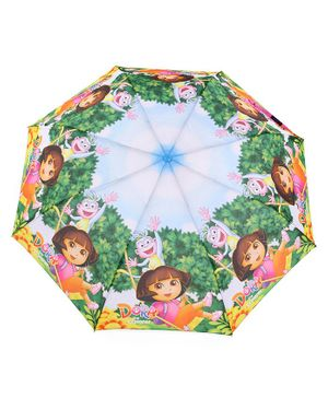 John's Umbrellas Dora Print - Blue Green