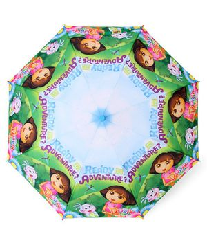 John's Umbrellas With Whistle Dora Print - Blue Green