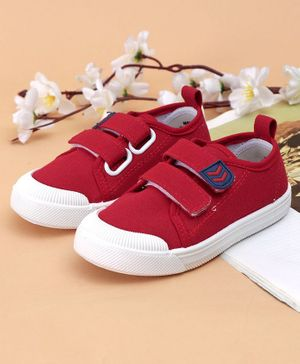 Cute Walk by Babyhug Canvas Shoes - Red