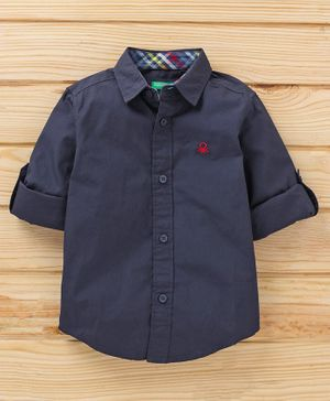 UCB Full Sleeves Solid Shirt - Blue