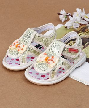 Cute Walk by Babyhug Sandals Sequin Detailing - Green White