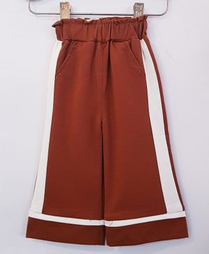 Aww Hunnie Side Striped Full Length Culottes With Side Pocket - Brown
