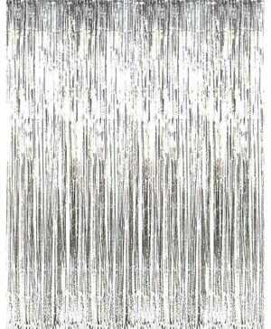 Syga Party Foil Curtain - Silver