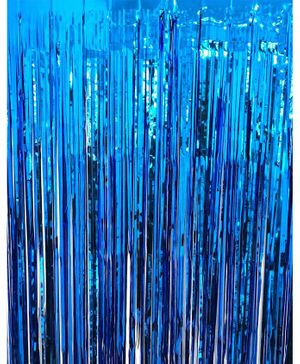 Syga Party Foil Curtain - Dark Blue