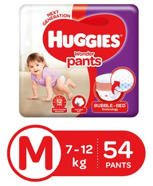 Huggies Wonder Pants Medium Size Pant Style Diapers - 54 Pieces