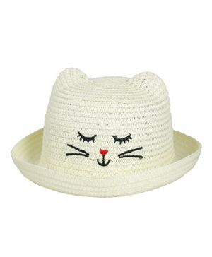 Kidofash Kitten Design Hat - Cream