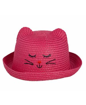 Kidofash Kitten Design Hat - Dark Pink