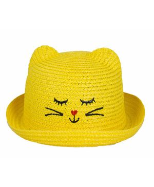 Kidofash Kitten Design Hat - Yellow