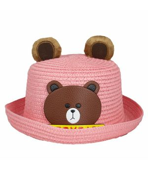 Kidofash Bear Patched Hat - Light Pink