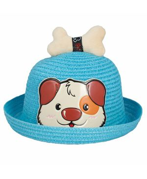 Kidofash Dog Face Patched Hat - Blue