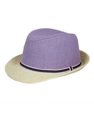 Kidofash Solid Fedora Hat - Purple