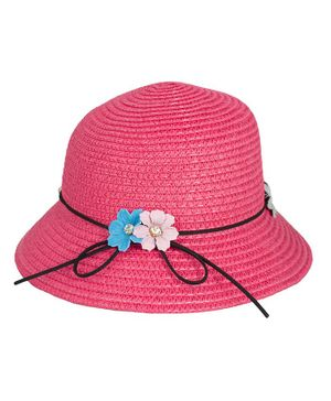 Kidofash Flower Applique Hat - Pink
