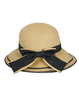 Kidofash Bow Detailed Hat - Light Brown