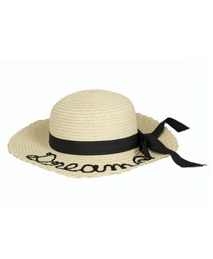 Kidofash Dream Embroidered Hat - Cream