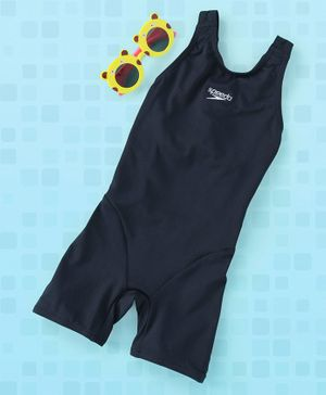 Speedo Sleeveless Legged Swim Suit - Navy Blue