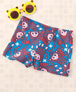 Speedo Swimming Trunks Pirate Print - Blue Red