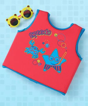 Speedo Sleeveless Swimming Vest Star Fish Print - Red