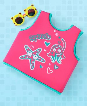 Speedo Sleeveless Swimming Vest Star Fish Print - Pink