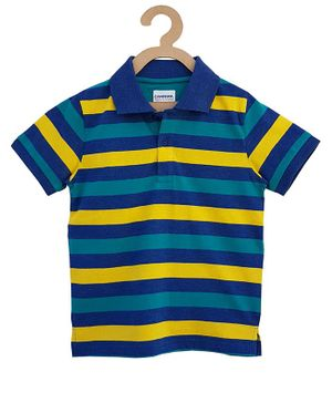 Campana Striped Half Sleeves T-Shirt - Multicolor