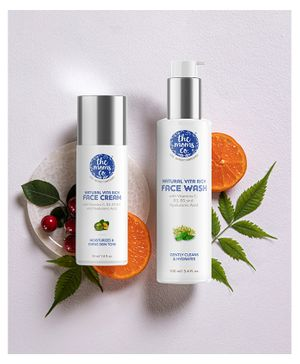 the moms co. Natural Vita Rich Day Hydration Bundle (Face wash and Face Cream)