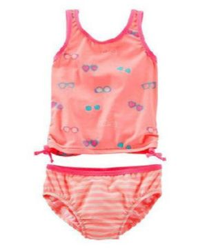 Awabox Sleeveless Goggles Print Bikini - Peach
