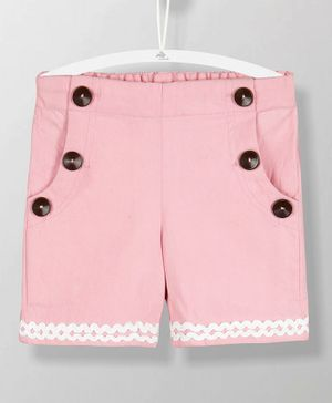 Cherry Crumble California Lace Design Shorts - Pink