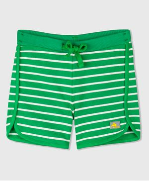 Cherry Crumble California Striped Shorts - Green