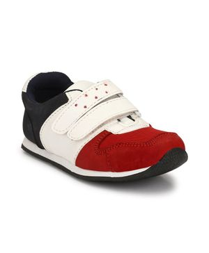 Tuskey Color Block Double Velcro Closure Shoes - Red