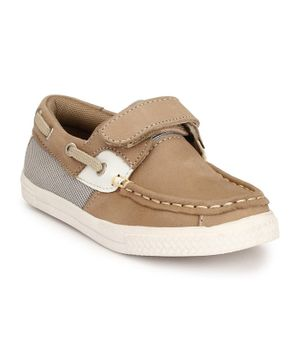 Tuskey Velcro Closure Casual Shoes - Beige