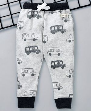 GJ Baby Full Length Lounge Pant Bus Print - Grey