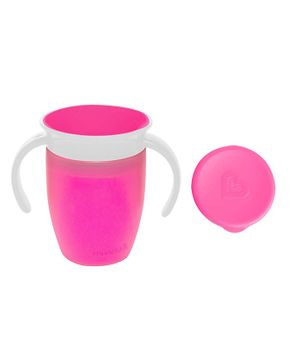 Munchkin Miracle 360 Degrees Trainer With Lid Pink - 207 ml