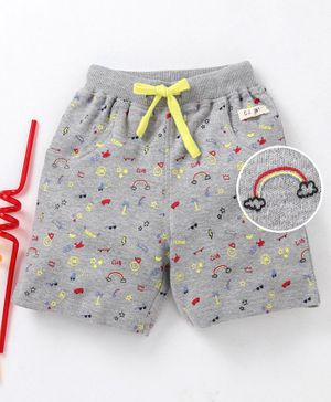 GJ Baby Printed Shorts With Pocket?Blacks - Grey