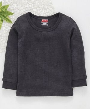 Babyhug Full Sleeves Thermal Vest - Dark Grey