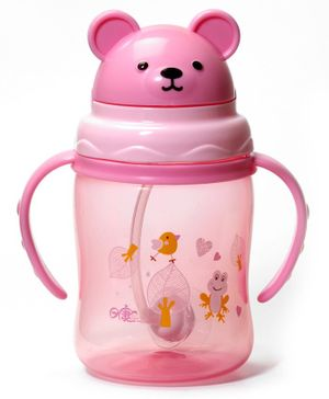 Rikang Baby Sipper With Twin Handles Pink - 320 ml