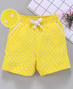 Babyhug Elastic Waist Shorts Allover Printed - Yellow