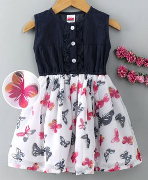Trousers Tulip Printed Dress Sleeveless Floral Flowers Baby Girls Tops