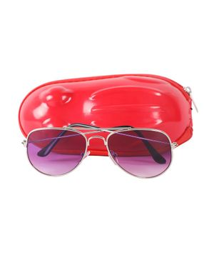 Spiky Solid Framed Tinted Aviators - Pink