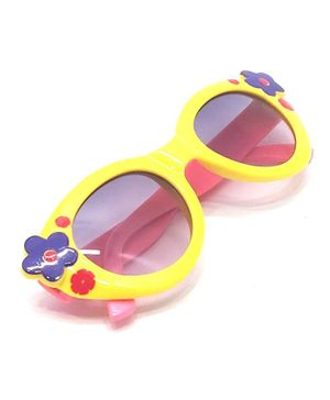 Kid-O-World Dual Shaded Flower Sunglasses - Yellow
