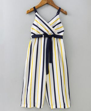 Nauti Nati Striped Sleeveless Jumpsuit - White