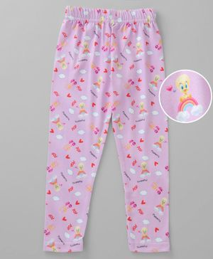 Birthday Girl Full Length Tweety Print Leggings - Pink