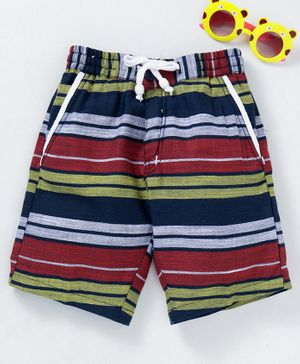 Rikidoos Striped Shorts - Red