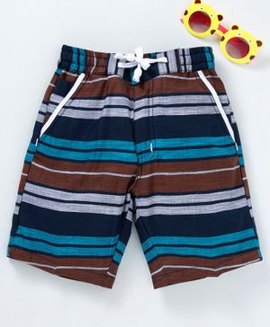 Rikidoos Striped Shorts - Brown