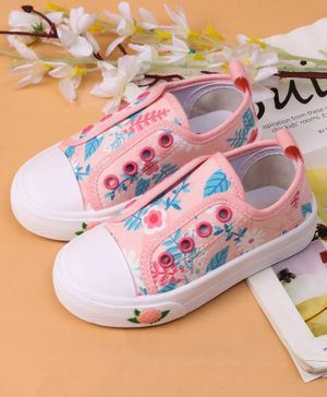 Cute Walk by Babyhug Casual Shoes Floral Print - Pink