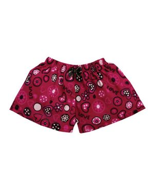 M'andy Heart Print Shorts - Pink