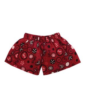M'andy Heart Print Shorts - Red