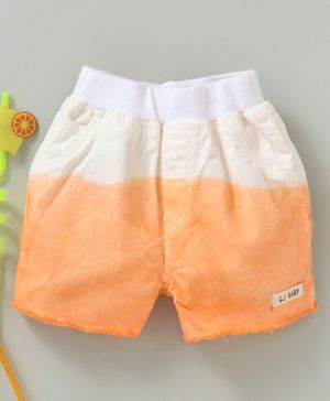 GJ Baby Shaded Shorts With Elasticated Waist - White Orange