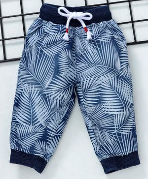 GJ Baby Full Length Jeggings Leaf Print - Blue