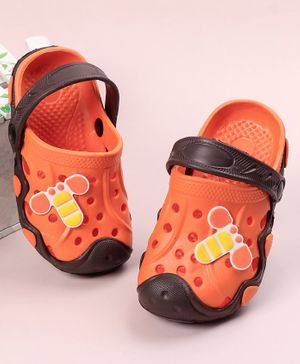 Toothless Clogs With Back Strap Character Patch - Orange