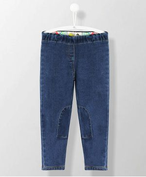 Cherry Crumble California Solid Full Length Jeggings - Blue