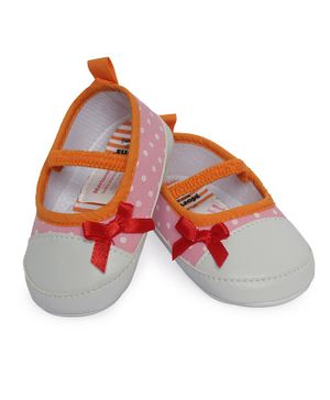 Morisons Baby Dreams Belly Shoes Polka Dot Print - Pink